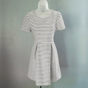 Minkpink Striped Cutout Fit and Flare Dress Medium